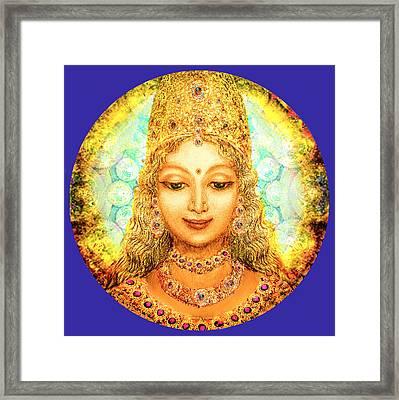 Angel Of Beauty In Blue Framed Print