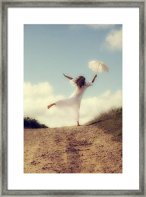 Angel With Parasol Framed Print