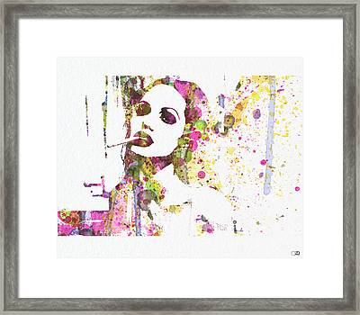 Angelina Jolie 2 Framed Print by Naxart Studio