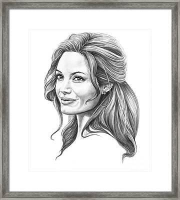 Angelina Jolie Framed Print by Murphy Elliott