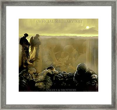 Angels And Brothers Framed Print by Todd Krasovetz