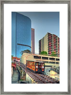 Angels Flight Funicular Railway Framed Print by David Zanzinger