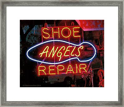 Angels Framed Print by Tobeimean Peter