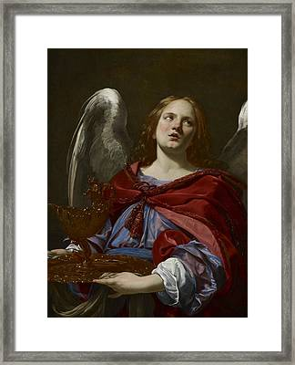 Angels With Attributes Of The Passion Framed Print