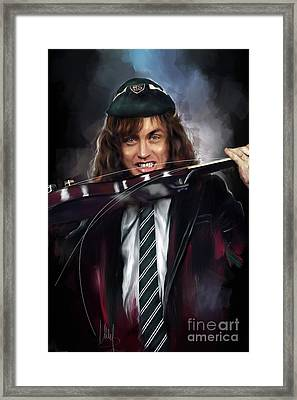 Angus Young Framed Print