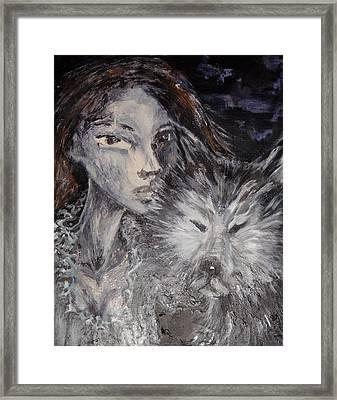Animal Instinct Framed Print by Jenni Walford