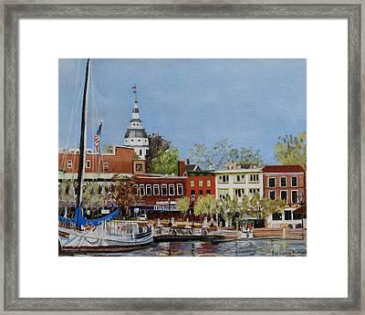 Annapolis Harbor Framed Print by Mary Susan Vaughn