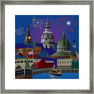 Annapolis Holiday Framed Print