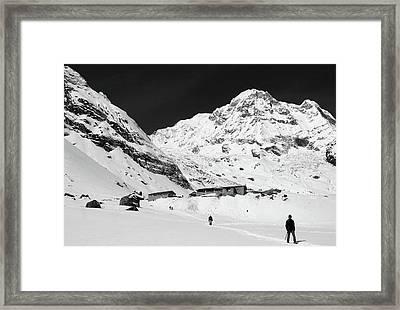 Annapurna South And Base Camp Framed Print
