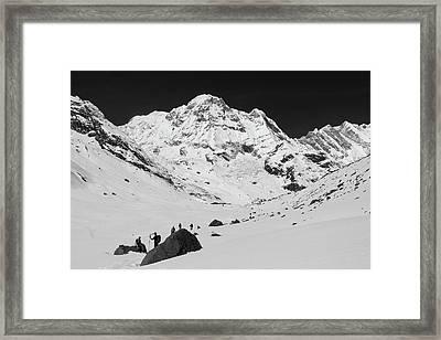 Annapurna South, Himalayas, Nepal Framed Print by Aidan Moran