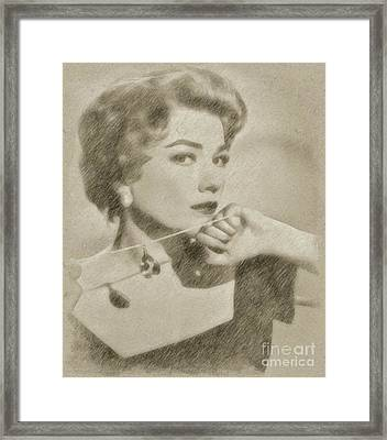 Anne Baxter Vintage Hollywood Actress Framed Print by Frank Falcon