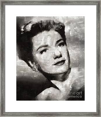 Anne Baxter Vintage Hollywood Actress Framed Print