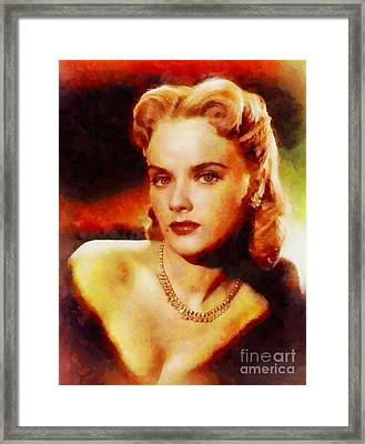 Anne Francis, Vintage Hollywood Actress Framed Print by Sarah Kirk