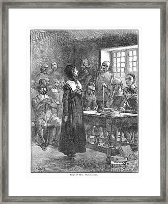 Anne Hutchinson (1591-1643) Framed Print by Granger