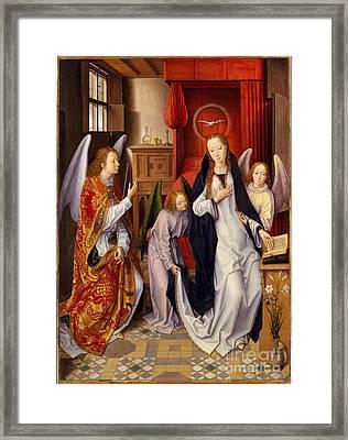 Annunciation Framed Print by Hans Memling