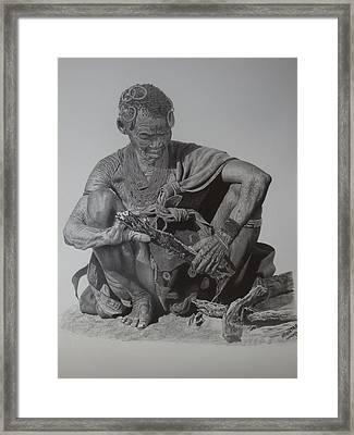Another Day Framed Print by Lemington  Muzhingi