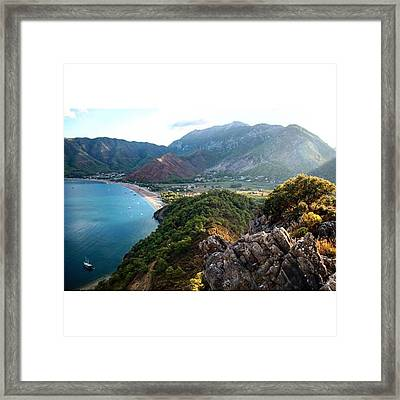 #antalya #adrasan #castle #landscape Framed Print