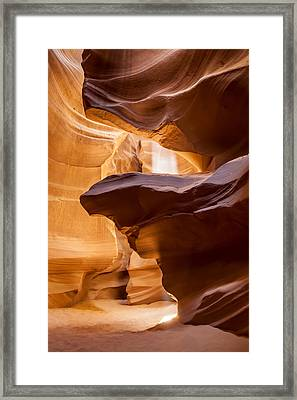 Antelope Canyon Stone Layers Framed Print by Melanie Viola