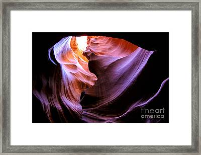 Antelope Slot Canyons Framed Print by Ryan Kelly