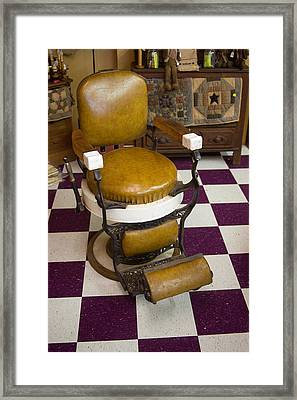 Antique Barber Chair 3 Framed Print