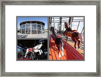 Antique Carousel Greenport New York Framed Print by Bob Savage