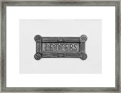 Antique Letterbox Framed Print by Tom Gowanlock