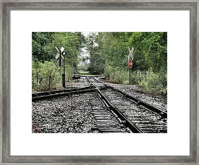 Antique Railroad Track Framed Print