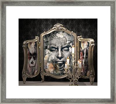 Antique Vampire Paintings Framed Print