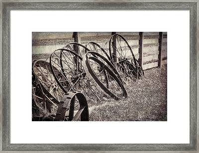 Antique Wagon Wheels I Framed Print