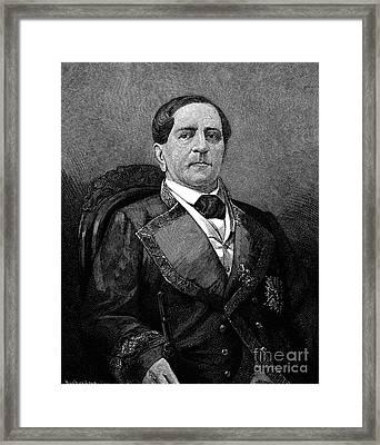 Antonio Lopez De Santa Anna Framed Print
