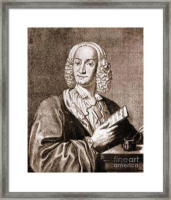 Antonio Vivaldi, Italian Composer Framed Print by Science Source