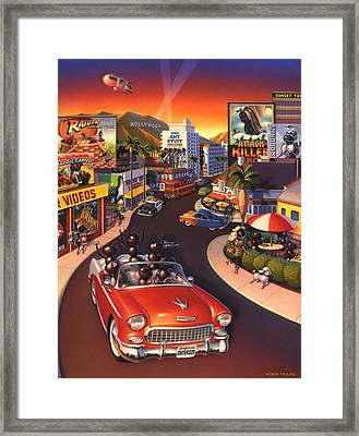 Ants On The Sunset Strip Framed Print by Robin Moline