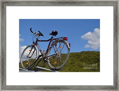 Anybody Seen My Bike Framed Print