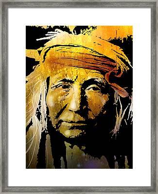 Apache Brave Framed Print by Paul Sachtleben