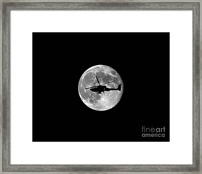 Apache Moon .png Framed Print by Al Powell Photography USA