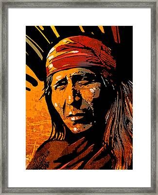 Apache Warrior Framed Print