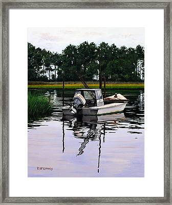 Framed Print featuring the painting Apalach by Rick McKinney
