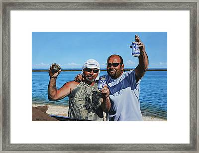 Apalachicola Gold Framed Print by Rick McKinney
