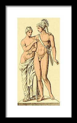 Goddess Of Love Framed Prints