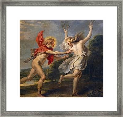 Apollo Pursuing Daphne Framed Print