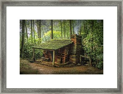 Appalachian Mountain Cabin Framed Print by Randall Nyhof