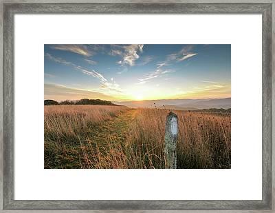 Appalachian Trail Sunrise Framed Print