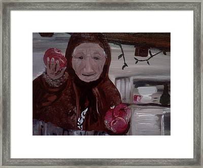Apple Lady Framed Print