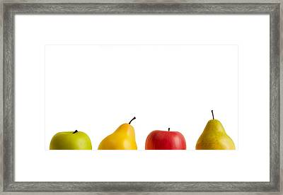Apples And Pears Framed Print by Chris Knorr