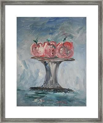 Apples Framed Print by Edward Wolverton