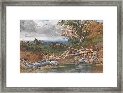 Approaching Storm In  Landscape Framed Print