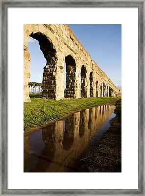 Aqua Claudia Aqueduct Framed Print