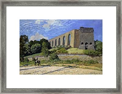 Aqueduct At Marly Framed Print