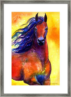 Arabian Horse 1 Painting Framed Print by Svetlana Novikova