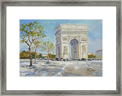 Arc De Triomphe, Paris Framed Print
